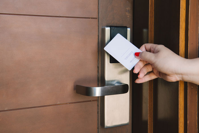 card key door lock