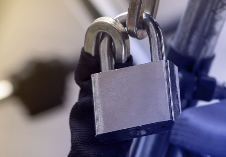 secure strong padlock